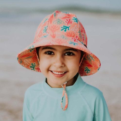 'Coral' Ponytail Swim Hat