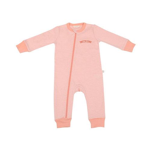 'Pink Stripe' Zip-Up Bodysuit