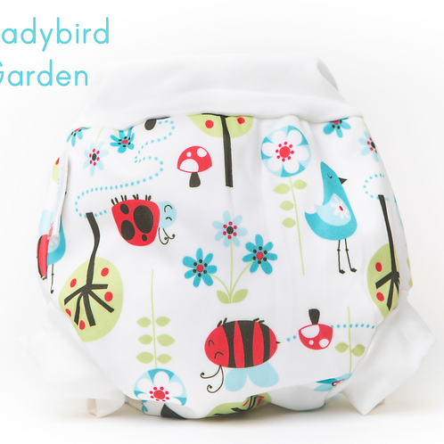 'Ladybird Garden' Bambooty Swim Nappy