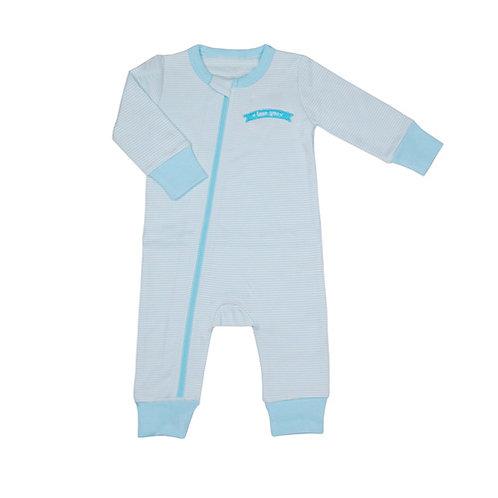 'Blue Stripe' Zip-Up Bodysuit