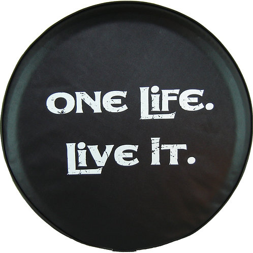 """SpareCover ABC Series - One Life Live It 27"""" White"""