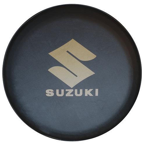 SpareCover - ABC Series - SUZUKI GOLD - Heavy Black Vinyl Tire Cover