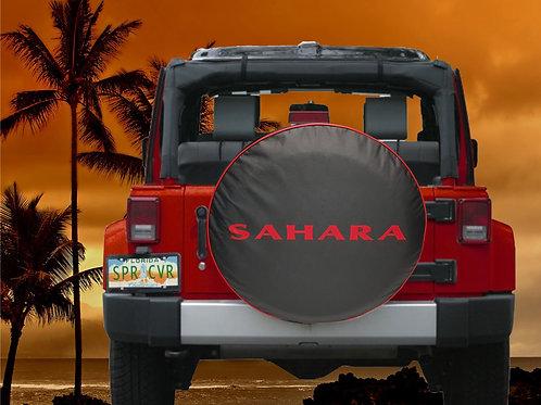 JL SAHARA RED - Brawny Series  2018+  Jeep Wrangler JL  Tire Cover