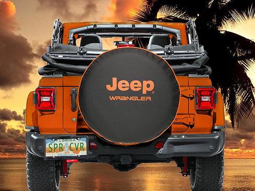 BR - Jeep Wrangler HDBlack Denim Vinyl Tire Cover