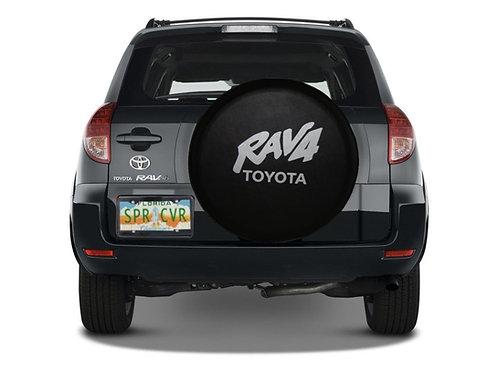SpareCover - ABC Series TOYOTA Rav4 Tuxedo Black Vinyl Tire Cover - Made in USA