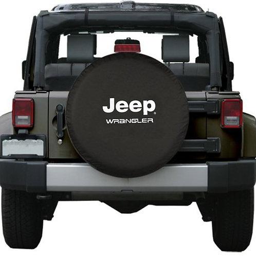 Brawny Series - Jeep Wrangler Black Vinyl Tire Cover