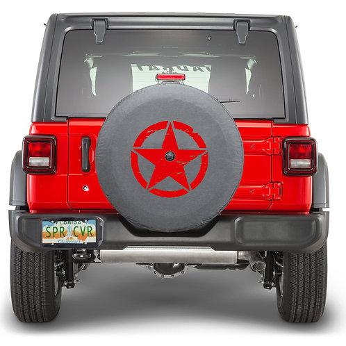 JL STAR RED - Brawny Series  2018+  Jeep Wrangler JL  Tire Cover
