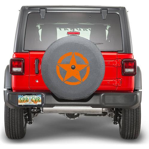 JL STAR Orange - Brawny Series  2018+  Jeep Wrangler JL Tire Cover