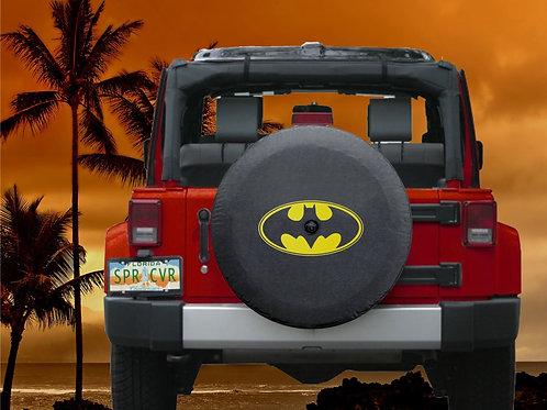 BR - Batman Classic- HDBlack Denim Vinyl Tire Cover