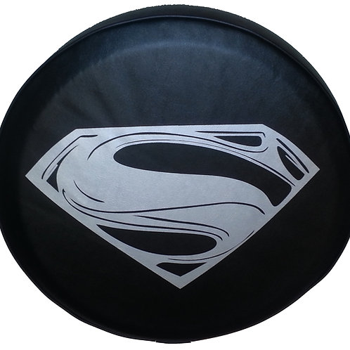 ABC Series - SuperMan on Black Vinyl Tire Cover