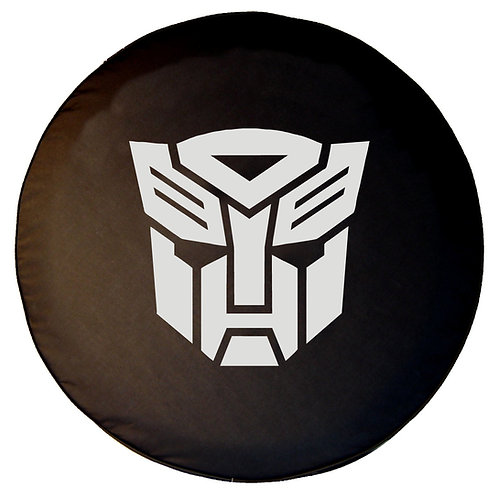 BR - Transformers Autobot - Black Denim Vinyl Tire Cover