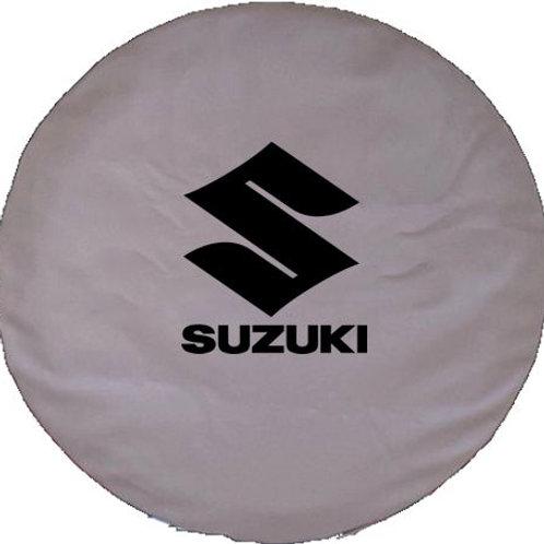 ABC Series Suzuki Black Logo on TAN 35 mil Vinyl Tire Cover -