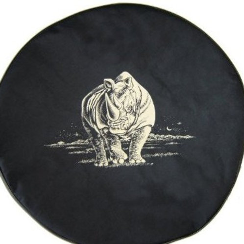 BR - Charging Rhino - HDBlack Denim Vinyl Tire Cover