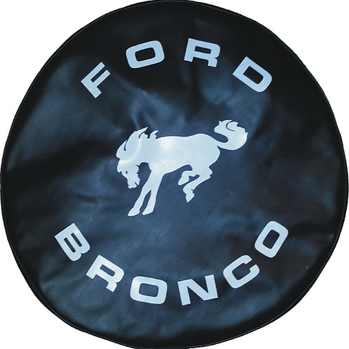 ABC Series - Black - Full Size Bronco- Heavy Vinyl Tire Cover