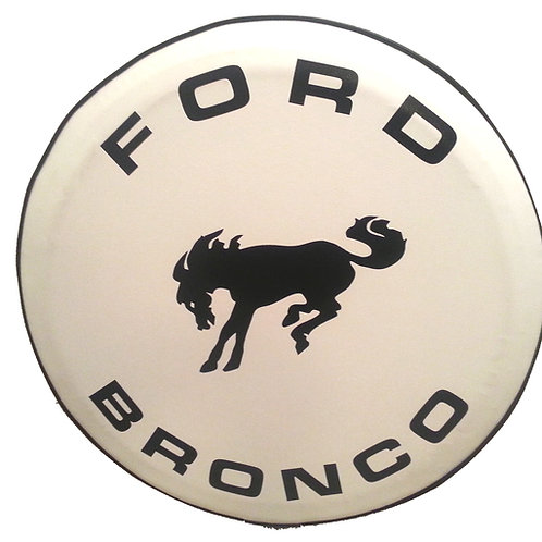 ABC Series - BRONCO  WHITE HD Vinyl Tire Cover
