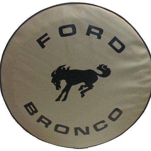 ABC Series - TAN - Full Size Bronco- Heavy TAN Vinyl Tire Cover