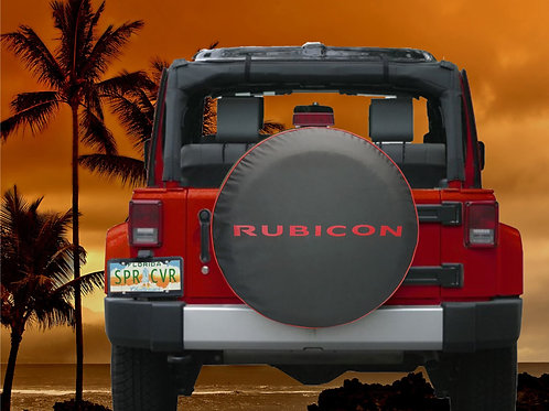 RUBICON RED - Brawny Series  2018+  Jeep Wrangler Tire Cover