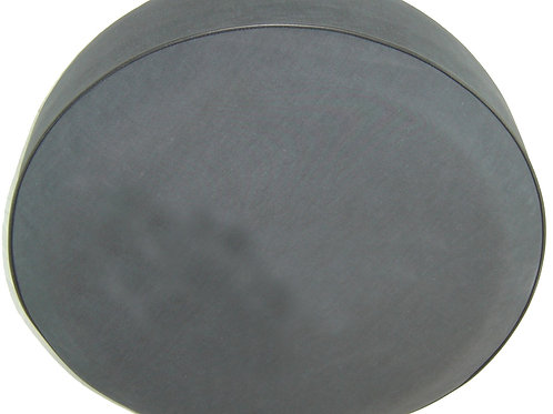 SpareCover - Brawny Series - BLANK (No Print) - HD Black Denim Vinyl Tire Cover