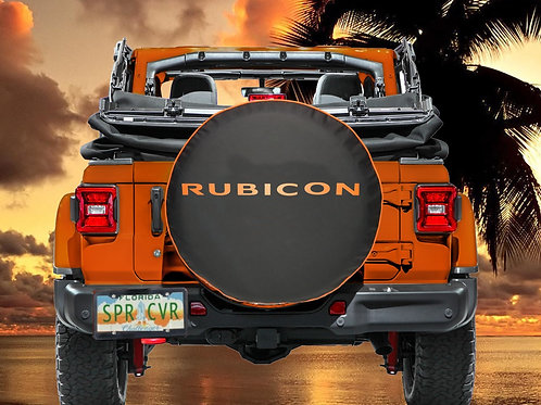 RUBICON ORANGE - Brawny Series  2018+  Jeep Wrangler JL Tire Cover