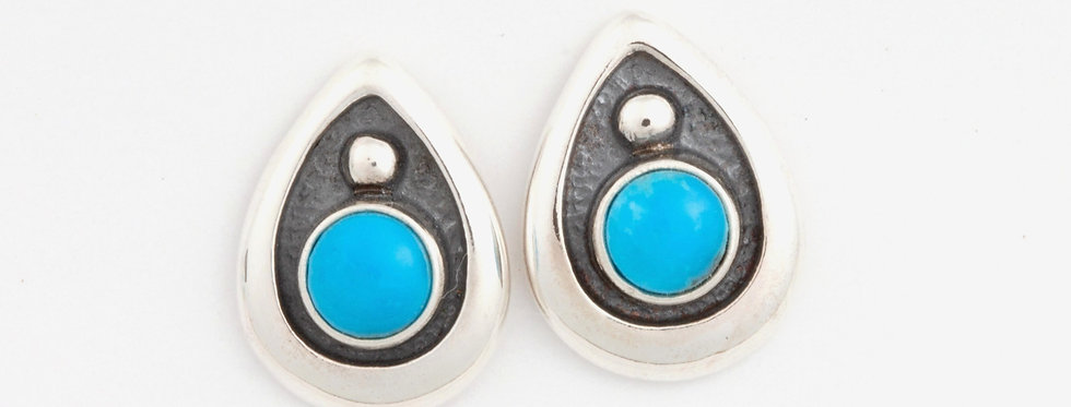 Thunderbird drops earrings