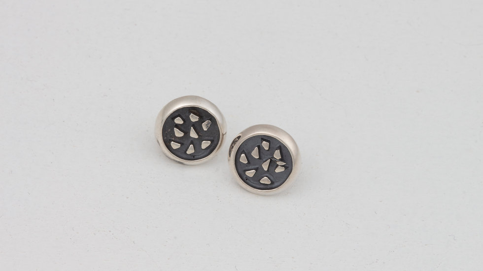 Lively Round Bits of Silver earrings