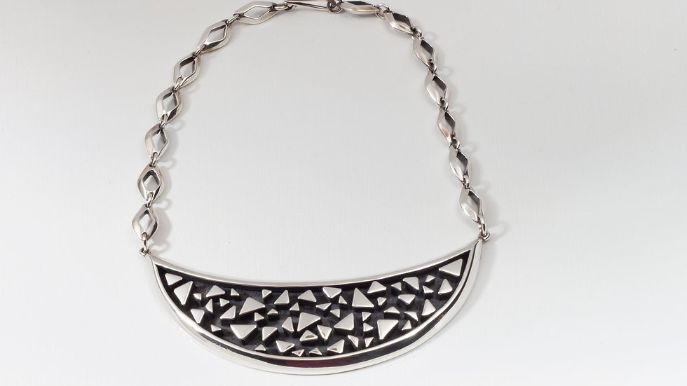 Bits of Silver Bib necklace