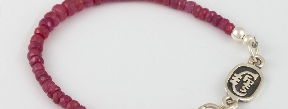 July Ruby Single Strand Bracelet