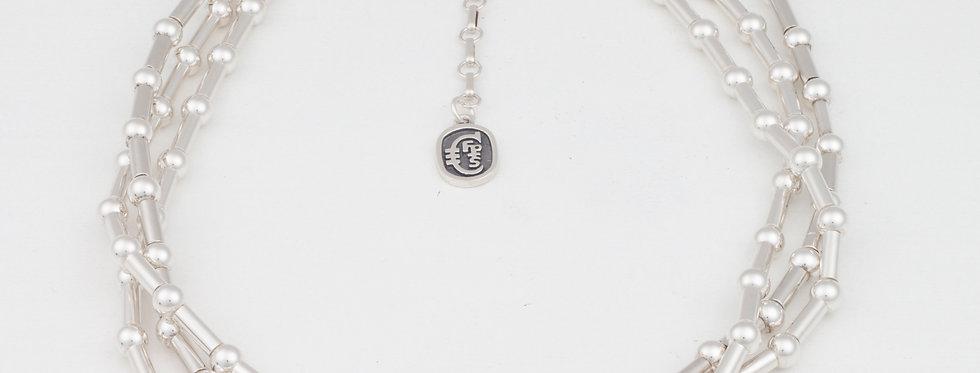Dot Dash 3 strand necklace