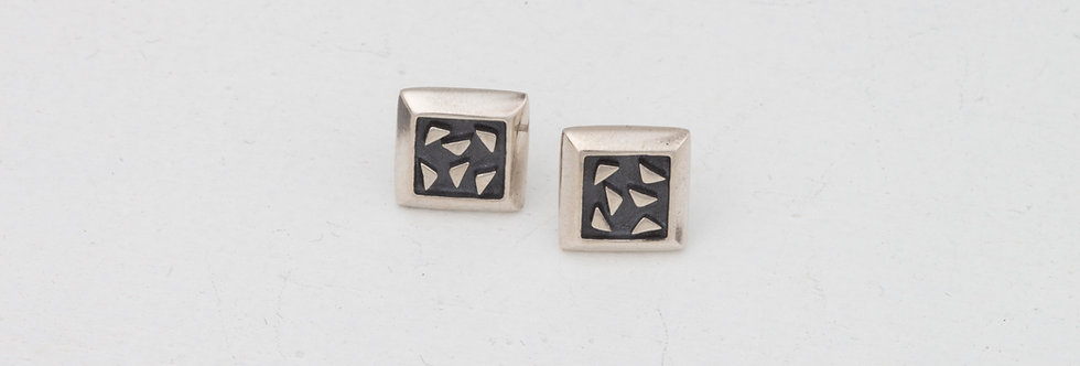Square bits earrings
