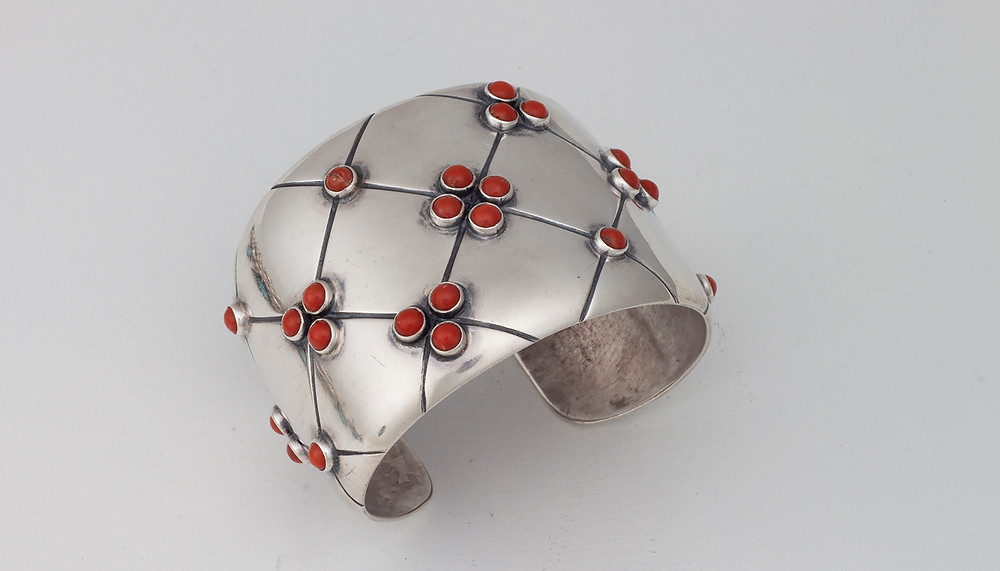 contemporary cuff bracelet by silversmith Frank Patania Sr.