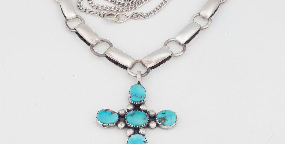 Vintage Turquoise Cross