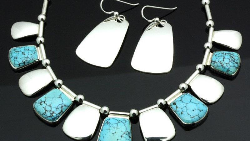 Couture RARE turquoise necklace set