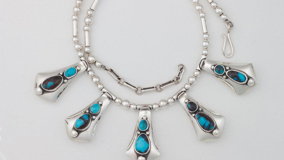 Contemporary Turquoise Amalia necklace