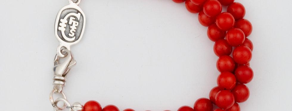 Coral Triple strand bracelet