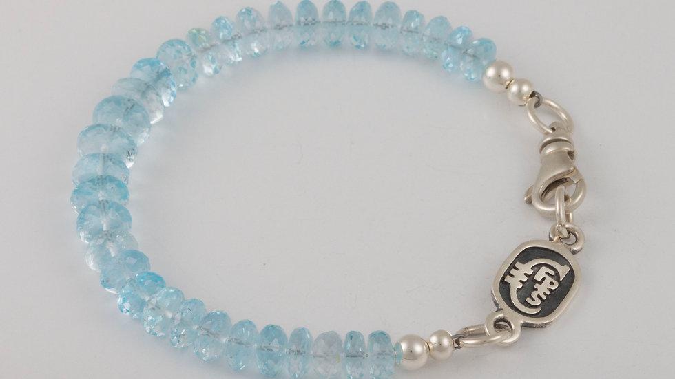 December Blue Topaz Single Strand Bracelet