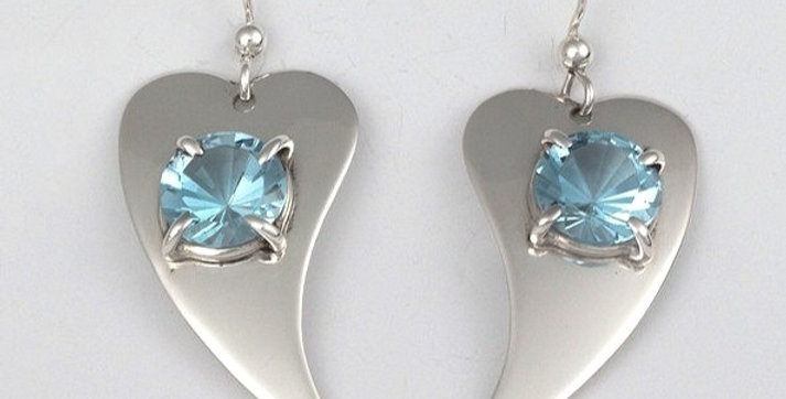 Crystal hearts earrings