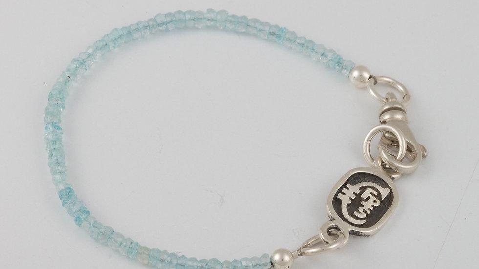 March Aquamarine Single Strand Bracelet