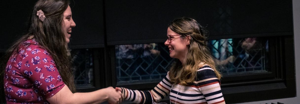 Remise du prix du meilleure Talk à Léa Mélin