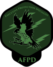 AFPD Executiv Protection student logo, gi gibill approved programs for vets. Payment plans for the general public.
