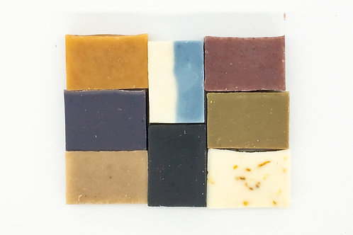 八件全系列手工皂試用套裝 連起泡袋X3 Natural Handmade Soap Samples 8pcs with 3 Foaming Bags