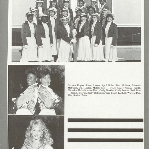 1986-87 Majorettes and Auxilary