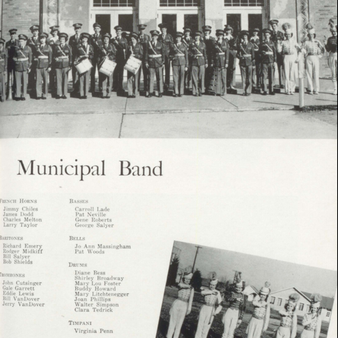 1950 Municipal Band & Majorettes