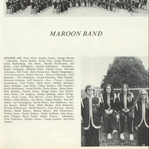 1974-75 Maroon Band
