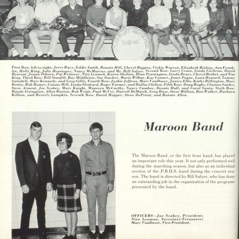 1966-67 Maroon Band
