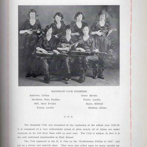 1923 Mandolin Club