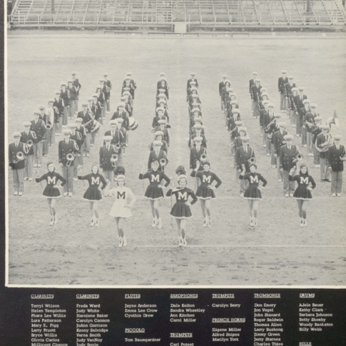 1956 Marching Band