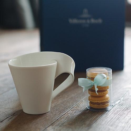 Kubek NewWave Caffe z makaronikami Sucré