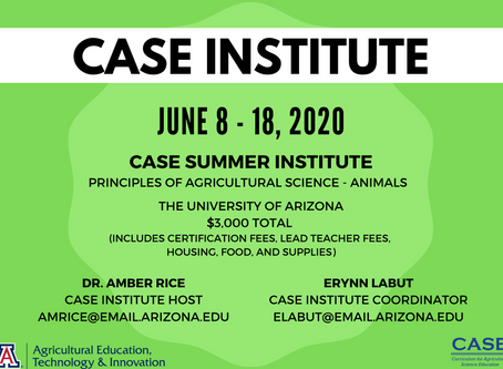 2020 ASA CASE Institute at the University of Arizona Information