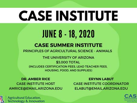 2020 ASA CASE Institute at the University of Arizona Information