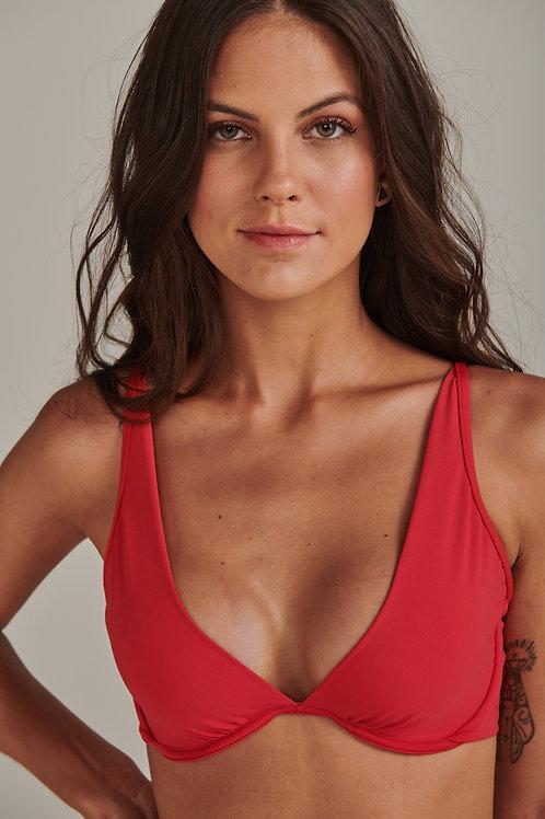 Bikini meia taça Tomate
